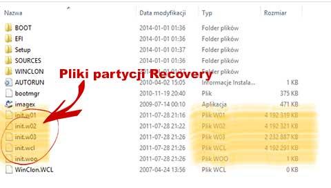 AdminTools oraz pliki oryginalnej partycji recovery SRS5