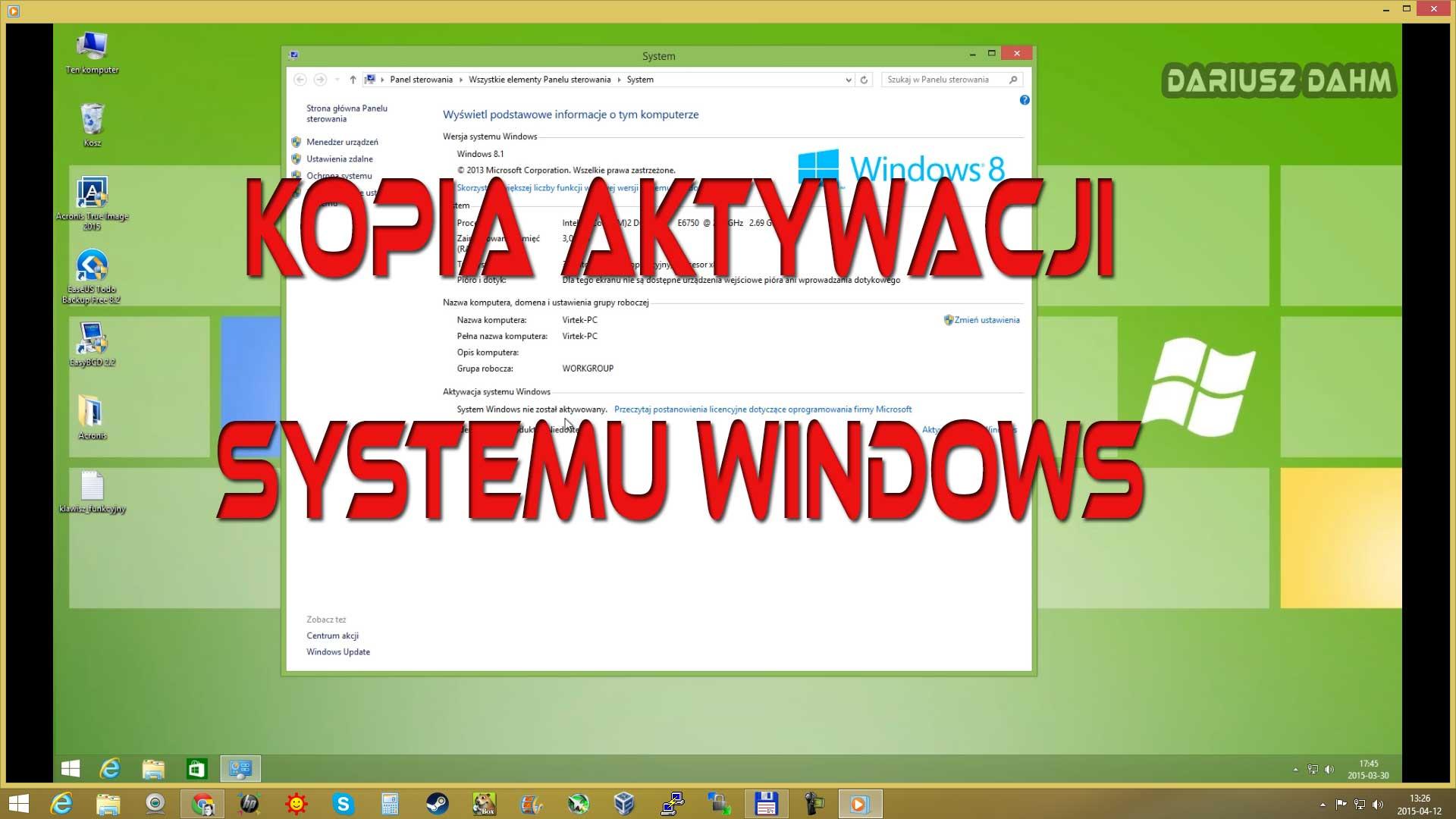 Kopia aktywacji Windows